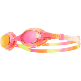 TYR Swimple Tie Dye Mirrored Goggles Kids Yellow/Pink